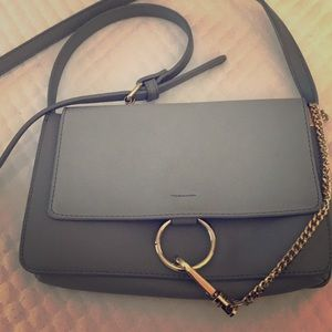 Super cute Chloe bag dupe in a muted blue color